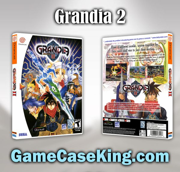Grandia 2 Sega Dreamcast Game Case