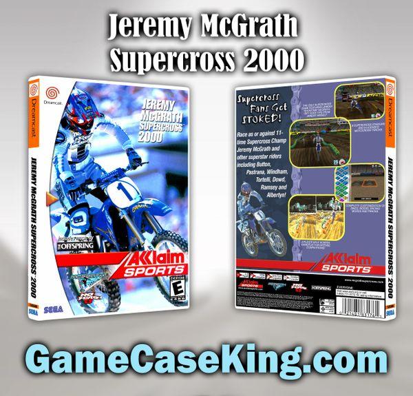 Jeremy McGrath Supercross 2000 Sega Dreamcast Game Case