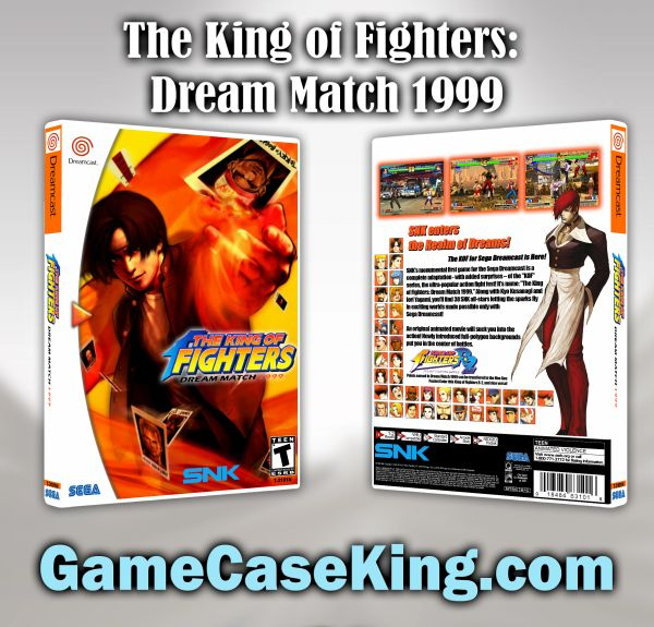 King of Fighters: Dream Match 1999, The Sega Dreamcast Game Case