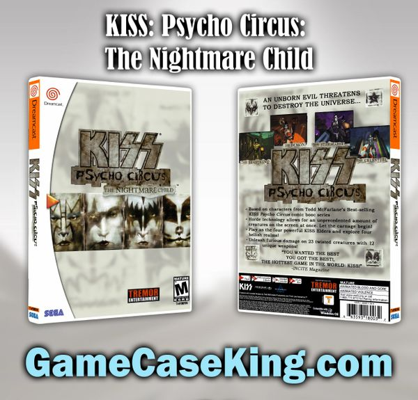 KISS: Psycho Circus: The Nightmare Child Sega Dreamcast Game Case