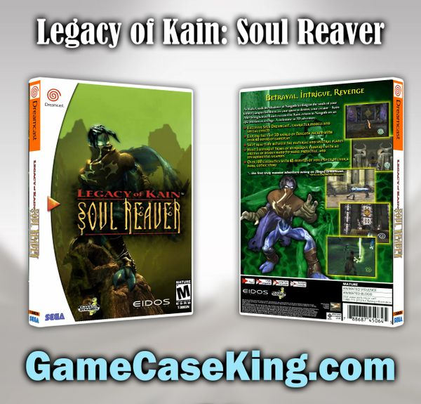 Legacy of Kain: Soul Reaver Sega Dreamcast Game Case