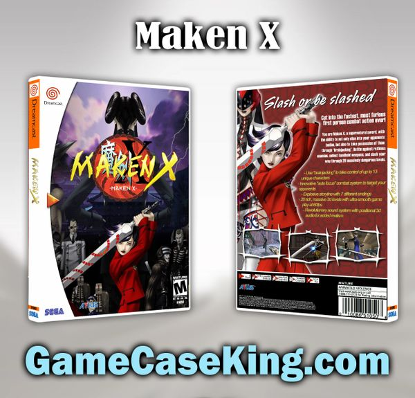 Maken X Sega Dreamcast Game Case