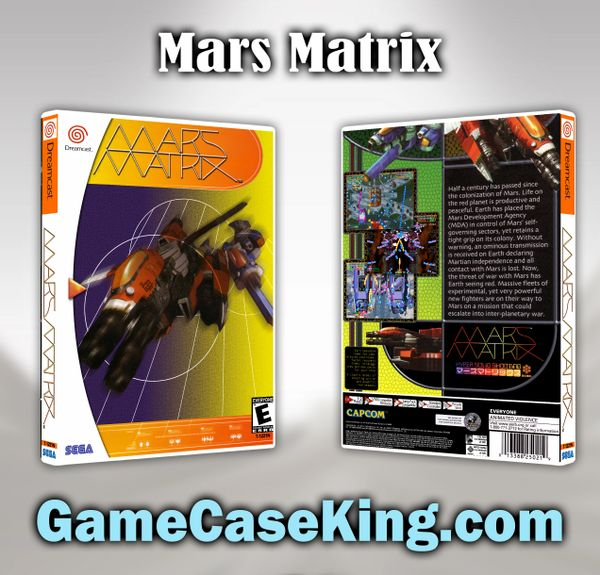 Mars Matrix Sega Dreamcast Game Case