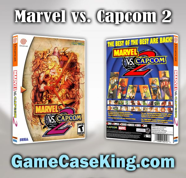 Marvel vs. Capcom 2 Sega Dreamcast Game Case