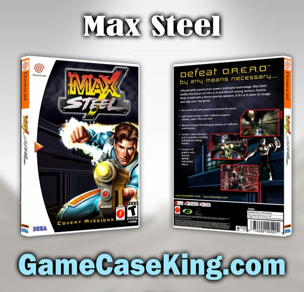 Max Steel: Covert Missions Sega Dreamcast Game Case