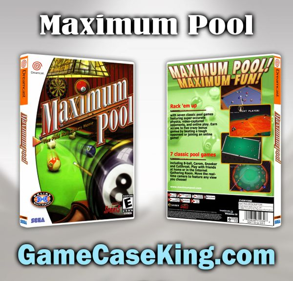 Maximum Pool Sega Dreamcast Game Case