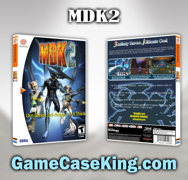 MDK2 Sega Dreamcast Game Case