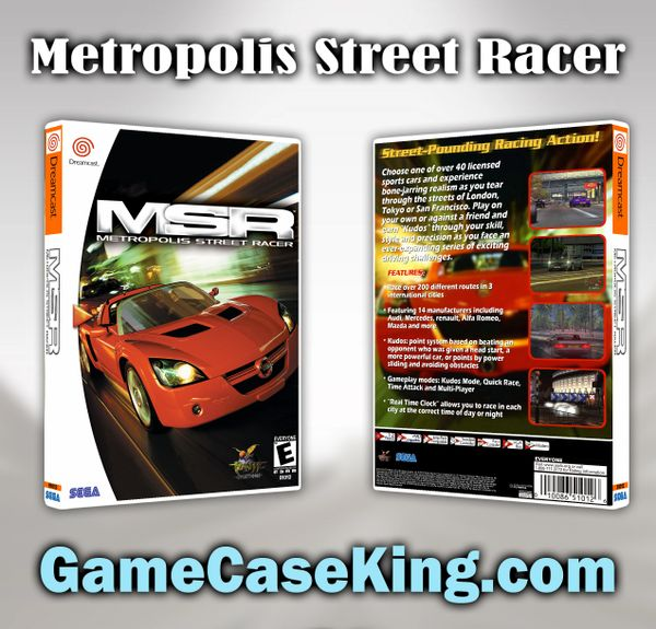 Metropolis Street Racer Sega Dreamcast Game Case