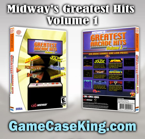 Midway's Greatest Hits Volume 1 Sega Dreamcast Game Case