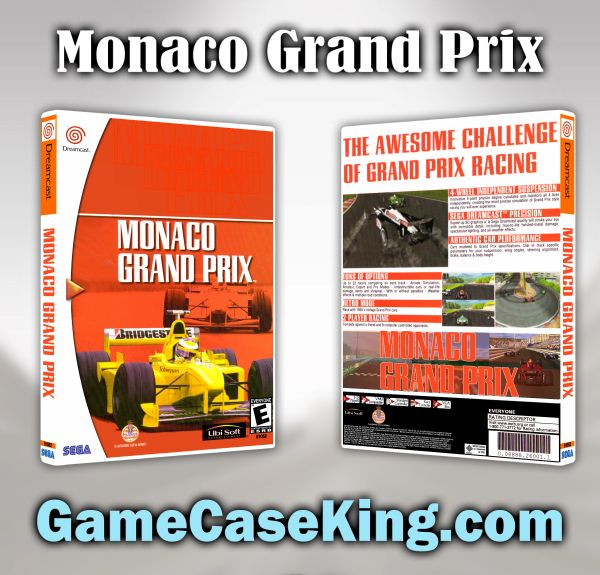 Monaco Grand Prix Sega Dreamcast Game Case