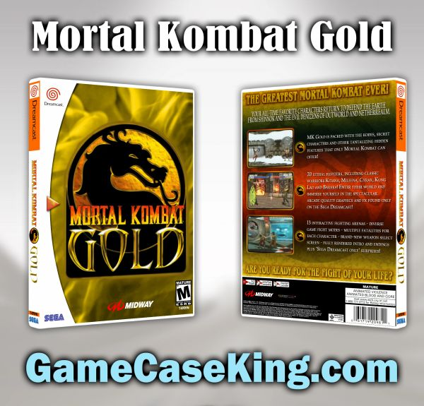 Mortal Kombat Gold Sega Dreamcast Game Case