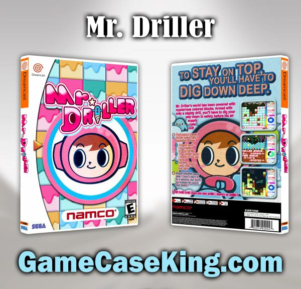 Mr. Driller Sega Dreamcast Game Case