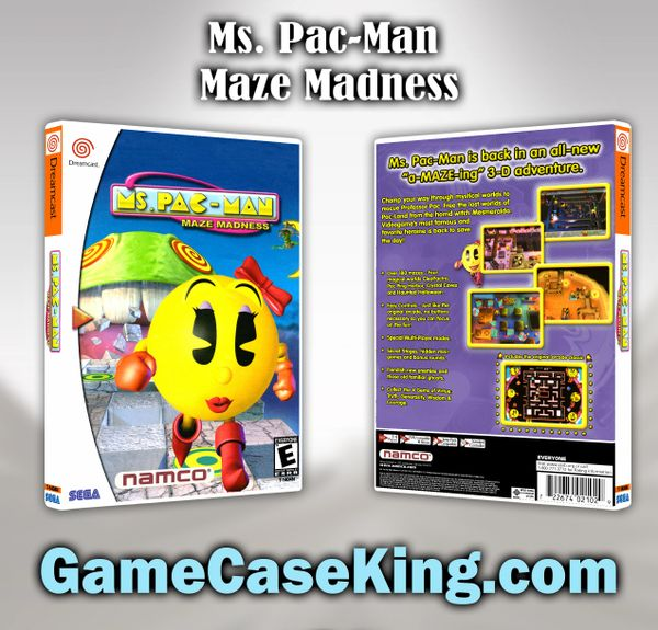 Ms. Pac-Man Maze Madness Sega Dreamcast Game Case