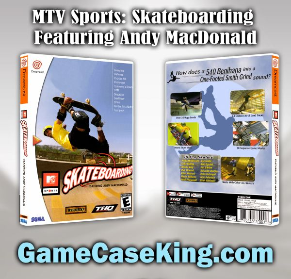 MTV Sports: Skateboarding Featuring Andy MacDonald Sega Dreamcast Game Case