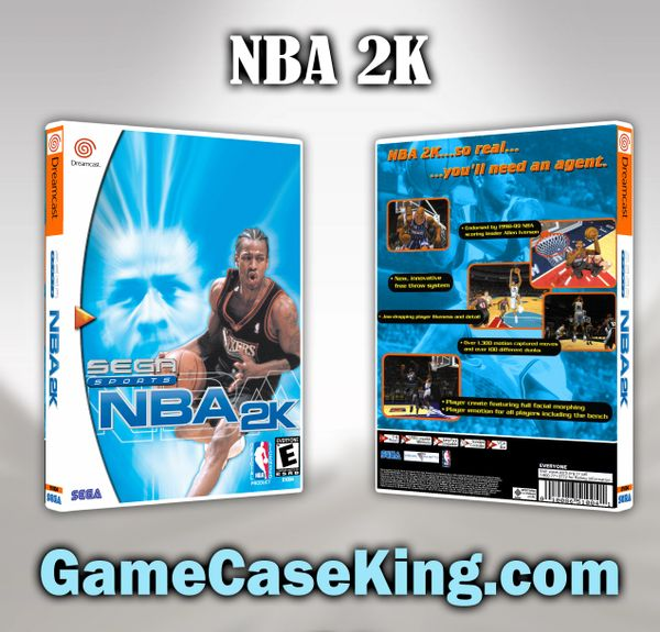 NBA 2K Sega Dreamcast Game Case