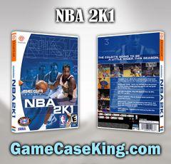 NBA 2K1 Sega Dreamcast Game Case