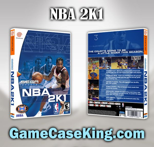 NBA 2K1 Sega Dreamcast Game Case