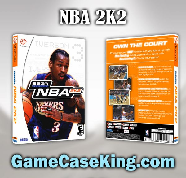 NBA 2K2 Sega Dreamcast Game Case