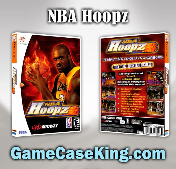 NBA Hoopz Sega Dreamcast Game Case