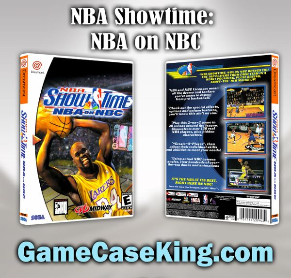 NBA Showtime: NBA on NBC Sega Dreamcast Game Case