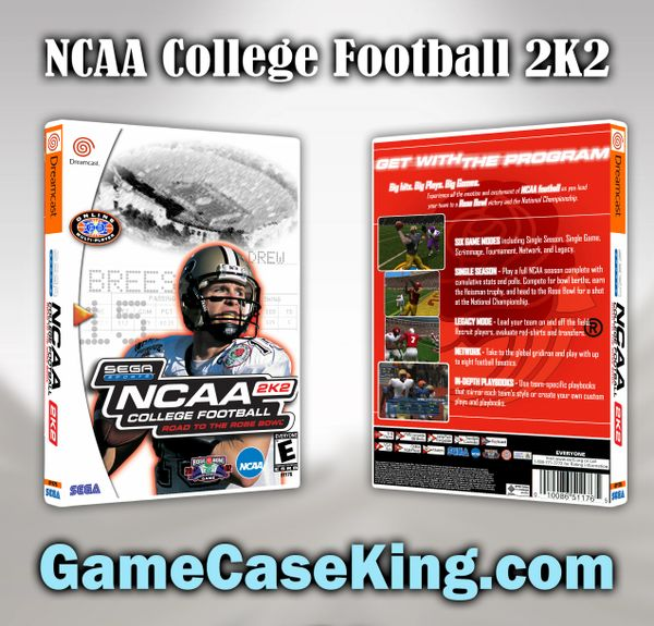 NCAA College Football 2K2 Sega Dreamcast Game Case