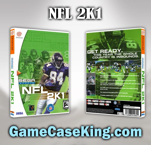 NFL 2K1 Sega Dreamcast Game Case
