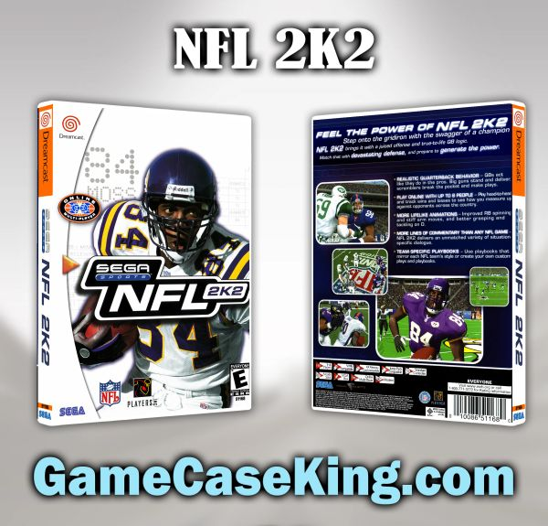 NFL 2K2 Sega Dreamcast Game Case