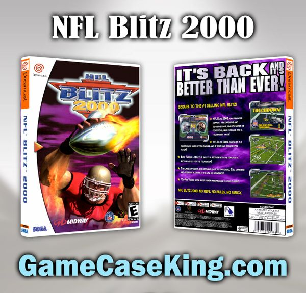 NFL Blitz 2000 Sega Dreamcast Game Case