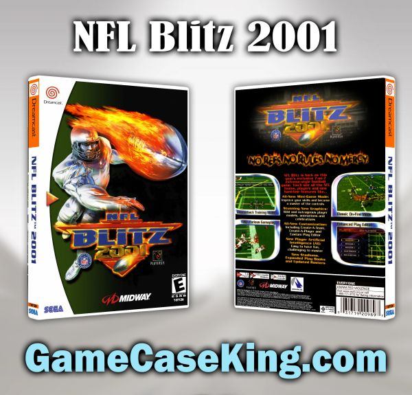 NFL Blitz 2001 Sega Dreamcast Game Case