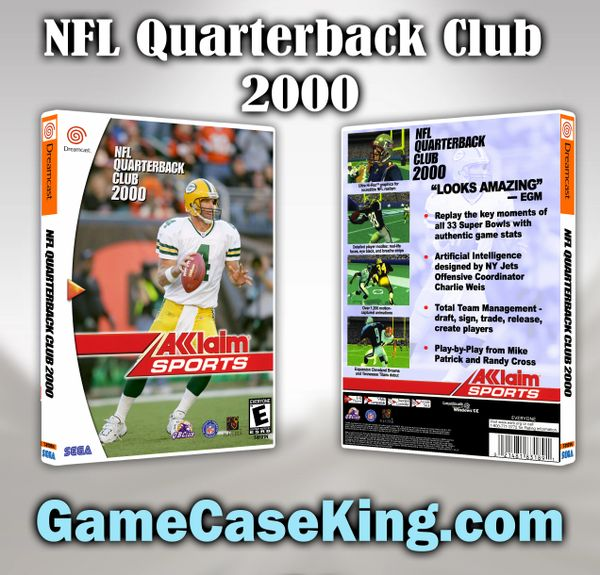 NFL Quarterback Club 2000 Sega Dreamcast Game Case
