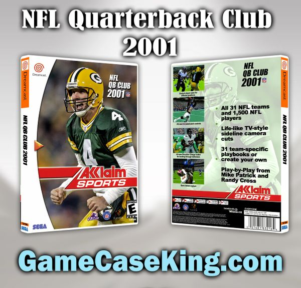 NFL Quarterback Club 2001 Sega Dreamcast Game Case