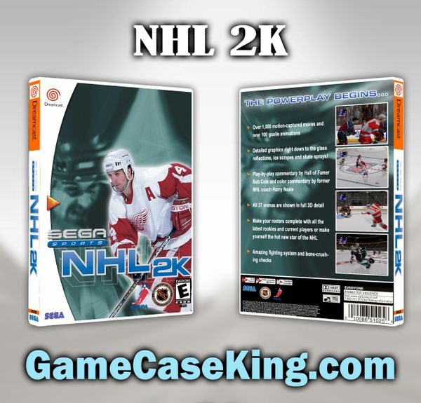 NHL 2K Sega Dreamcast Game Case