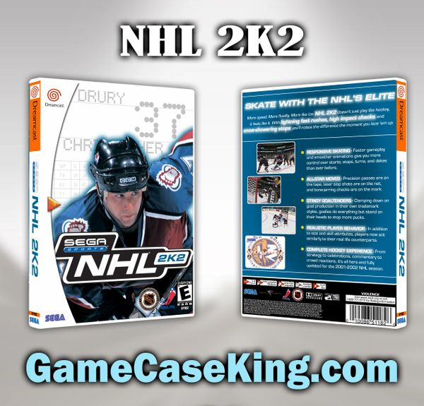 NHL 2K2 Sega Dreamcast Game Case