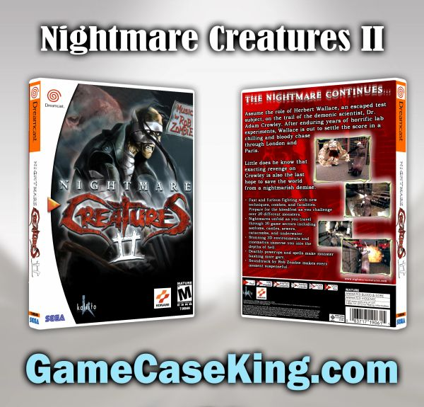 Nightmare Creatures II Sega Dreamcast Game Case