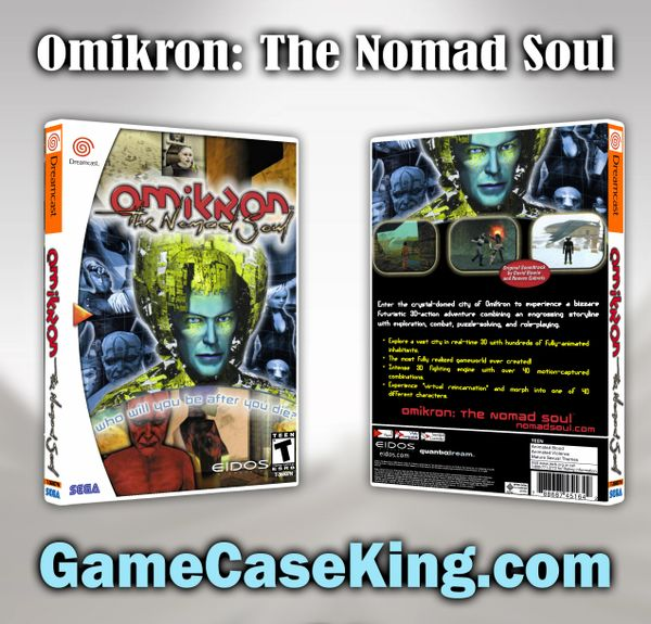 Omikron: The Nomad Soul Sega Dreamcast Game Case