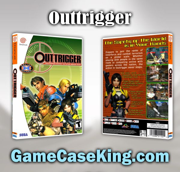 Outtrigger Sega Dreamcast Game Case
