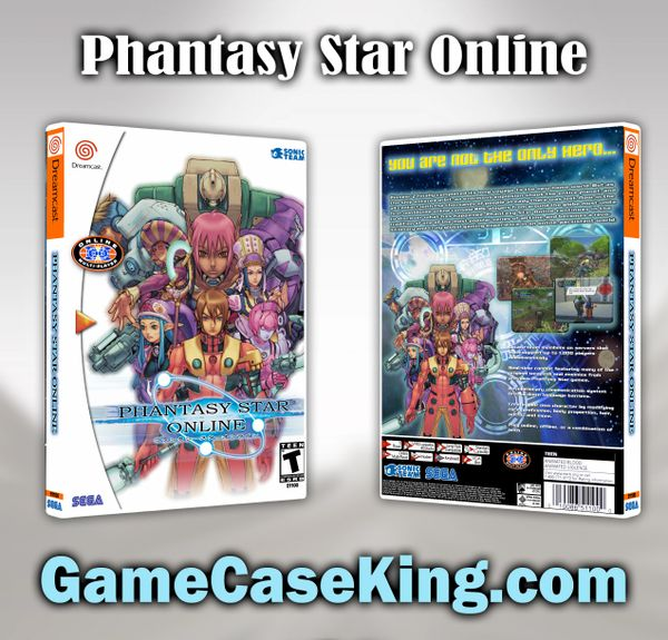 Phantasy Star Online Sega Dreamcast Game Case