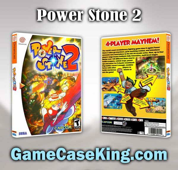Power Stone 2 Sega Dreamcast Game Case