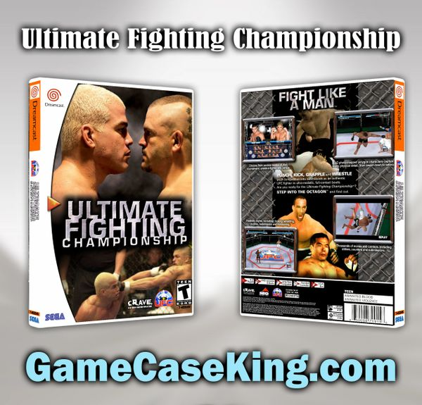 Ultimate Fighting Championship Dreamcast: Ultimate Fighting Championship Sega Dreamcast Game Case