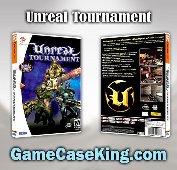 Unreal Tournament Sega Dreamcast Game Case