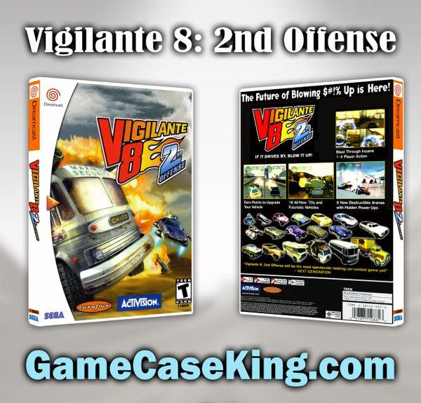 Vigilante 8: 2nd Offense Sega Dreamcast Game Case