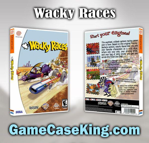 Wacky Races Sega Dreamcast Game Case