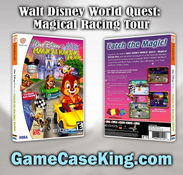 Walt Disney World Quest: Magical Racing Tour Sega Dreamcast Game Case