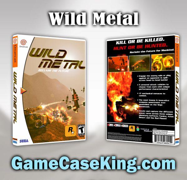 Wild Metal Sega Dreamcast Game Case
