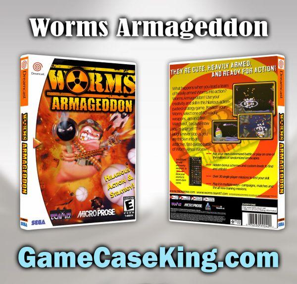 Worms Armageddon Sega Dreamcast Game Case