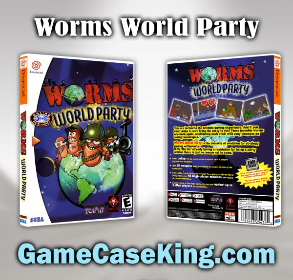 Worms World Party Sega Dreamcast Game Case