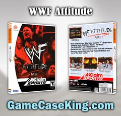 WWF Attitude Sega Dreamcast Game Case