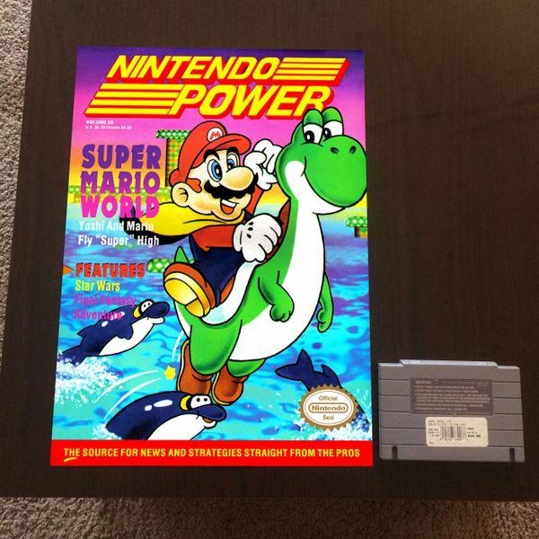 Nintendo Power Volume 28 Poster - Super Mario World (16x12 in)