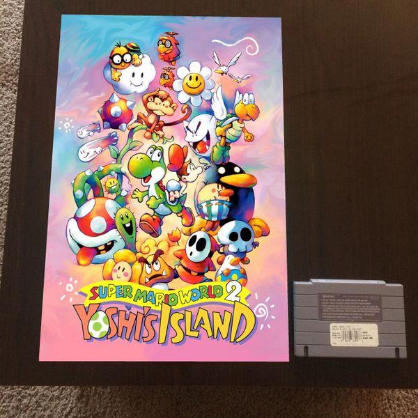 Super Mario World 2: Yoshi's Island Poster (18x12 in)