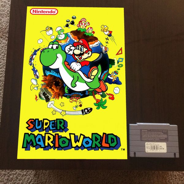 Super Mario World Poster (18x12 in)